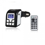 Bluetooth Car Mp3 Player & Phone Call Receiver Black