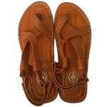Scalatore Criss Cross Lgt Brown Leather Sandal
