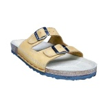 Double+Quality+Buckle+Slippers-+Brown