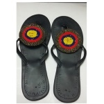 Niikolite Large Circle Shape Beaded Slippers