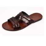 Micheggio Leather Stich Slippers