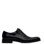 Zara Formal Men's Leather Monk Shoes With Broguing