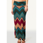 Printed Maxi Skirt In Teal By Rue21