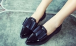 SynGeTters World Female Bow Patent Loafers Black