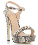 Head Over Heels Jewelled Platform Sandals - Size 38