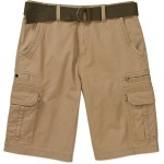 No Boundaries Big Men's Belted Twill Cargo Short - Desert Camel Colour